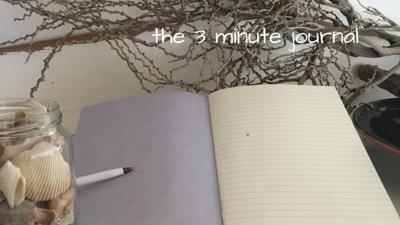 A simple 3 minute journalling process